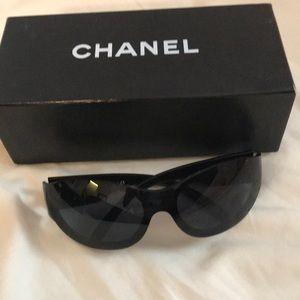 Authentic Chanel black sunglasses